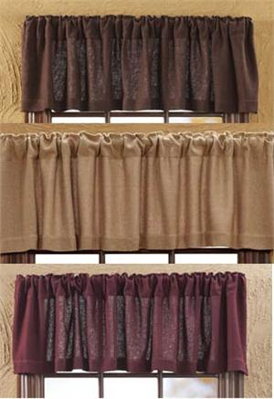 Soft Burlap Valance in 3 colors