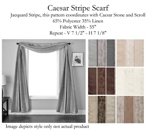 Caesar Stripe Scarf Swag Window Topper Available In 6