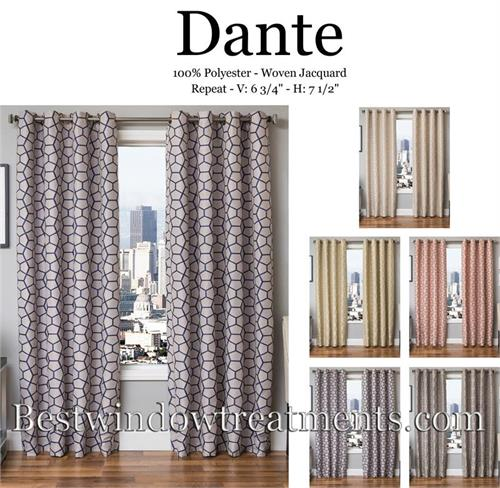 Dante-Geometric Curtains Blackout Lining