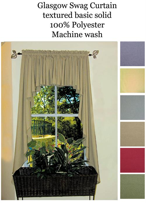 Ultra Fullness Glasgow Swag Curtains In Blue Harvest Moss And Pomegranate