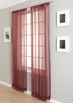 mimosa sheer curtain panel in many colors - Sheer Curtain Panels