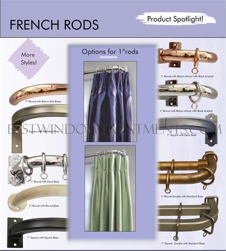Custom French Iron Curtain Rod | BestWindowTreatments.com