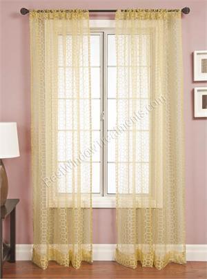 palazzo honeycomb sheer curtain panels - Sheer Curtain Panels