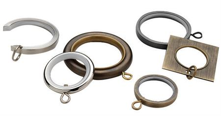 Custom Select Metal Curtain Rings For 3/4  Curtain Rod Rings
