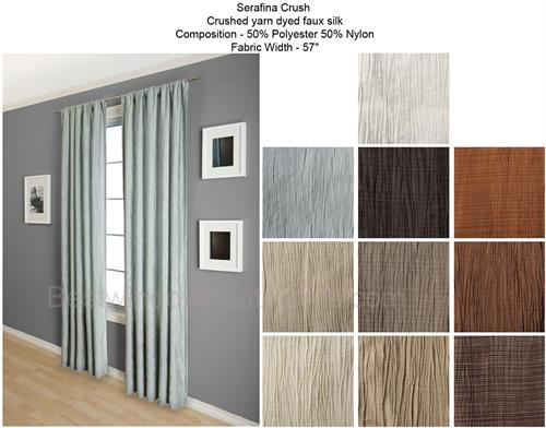 serafina crush straiated faux silk curtains blackout lining and more