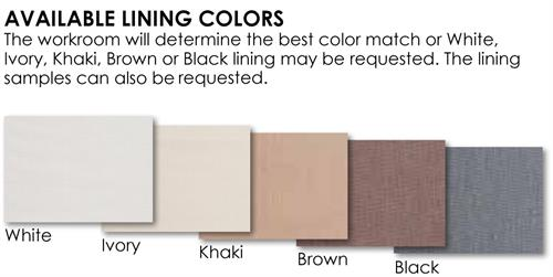 Woven Shade Lining Options