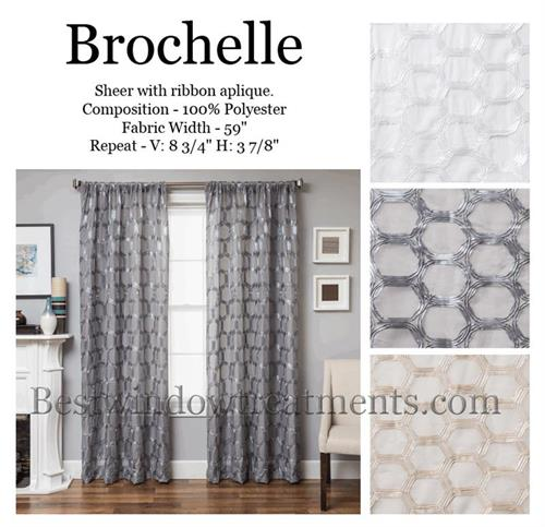 Brochelle Sheer Curtain Panel Available In 3 Colors
