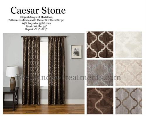 Caesar Stone Quatrefoil Moroccan Trellis Tile Curtain Panel : Add Lining,  Interlining, Blackout : Grommets or Back-Tabs - Caesar Stone Quatrefoil Moroccan Trellis Tile Curtain Panel