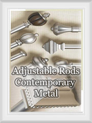 Extendable Contemporary Metal Curtain Rods