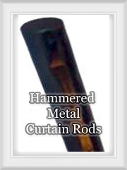 Hammered Metal Rods