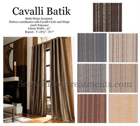 Cavalli Batik Curtain Drapery Panels | www.bestwindowtreatments.com