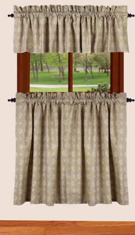 Curtains Ideas 36 inch tier curtains : Emily's Floral 36 inch Tier Curtains | BestWindowTreatments.com