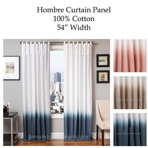Hombre Gradient Two Tone Curtain Panel Available In 3 Colors