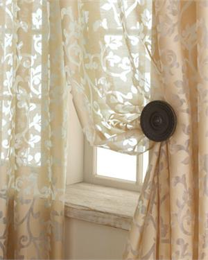 Palazzo Scroll Semi Sheer Curtain Panel Available In 7