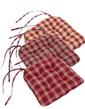 Red Plaid Chair Pad