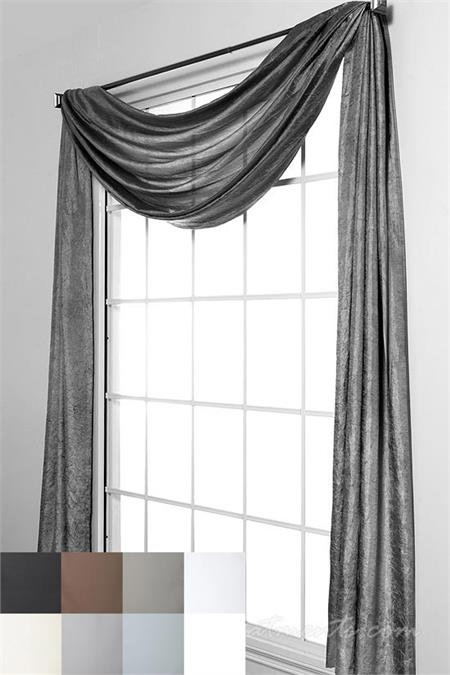 Medici Voile Scarf Swag Window Topper