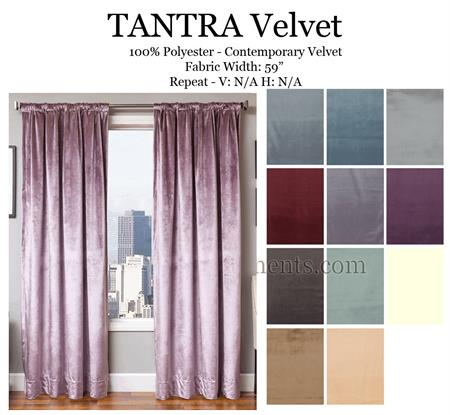 Tantra Velvet Antique Curtains With Blackout Lining Option