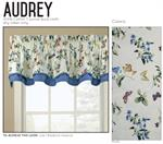 flowers and butterflies Valance for windows