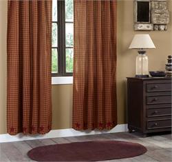 Burgundy Applique Star Curtains