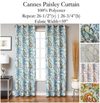 Cannes Paisley Curtain Panel Www Bestwindowtreatments Com