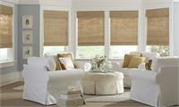 Classic Woven Woods Roman Shades Neutral