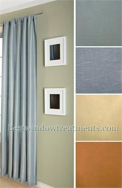 Delano Faux Silk Sollid Curtains and Drapes :options for Blackout, Grommets Sewn in USA