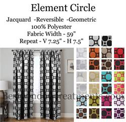 Geometric Circle Curtain Panels