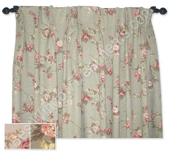 Fireside Floral Pinch Pleated Curtains
