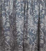 Floating Leaves Shower Curtain in blue color