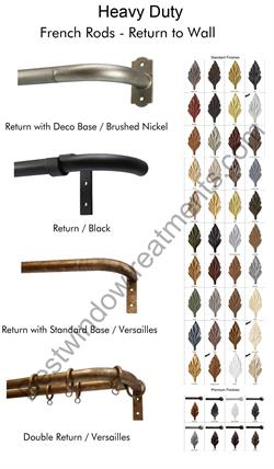 Custom French Iron Curtain Rod Bestwindowtreatments Com