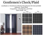 traditional plaid curtain in masculine color