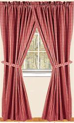 Heritage Check Curtain Panels In 3 Colors