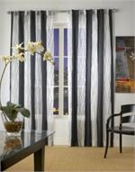 Irony Semi-Sheer Curtain Panel available in 6 colors