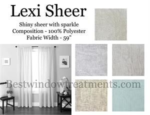 Lexi Sheer Organza Curtains with sparkle and dazzle for your window