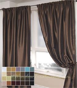 Nether faux taffeta silk with blackout, grommets, lining Curtains