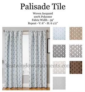 Palisade Tile Moroccan Jacquard Blackout option curtains