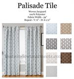 Jacquard Weave Tile Pattern Curtain