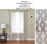 Double Panel Traverse Rod Curtains