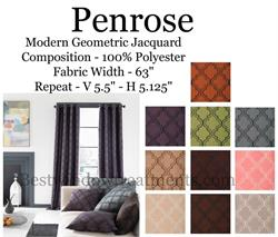 Penrose Moorish Geometric Modern Curtain Panel