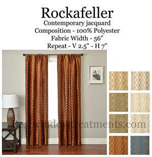 Rockafeller Modern Cirlce Curtains Blackout Lining Optional