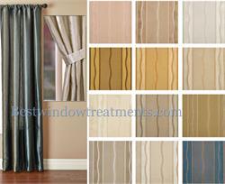 stripe woven faux silk drapery panels