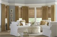 Classic Style Roman Shades in Woven Wood Fabrics