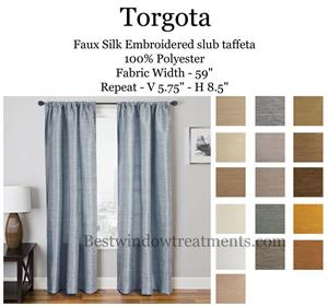 Torgota Striated Solid Curtains Blackout Lining Options
