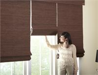 Roman Shades with Woven Woods fabric styles Classic