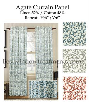 Agate Cotton Amp Linen Curtain Panel Best Window Treatments