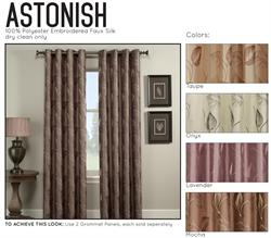 Curtain Panel with Grommet Top and Lining