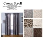 Poly Linen Jacquar Scroll