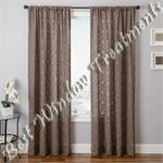 Caspia Semi-Sheer Curtain Panel available in 7 colors