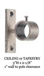Wressel 1 Quot Custom Metal Curtain Rod Extra Long Available