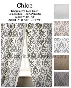 Chloe Sheer Linen Curtains : blackout lining options